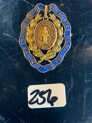 10 Karat Gold St. Mary's Nursing School Pin