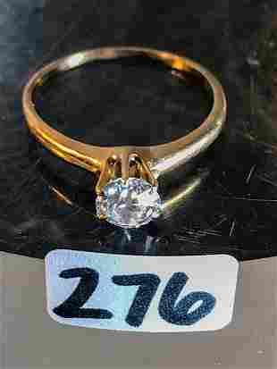 14 K Gold 1/2 karat Old European Cut Diamond Ring