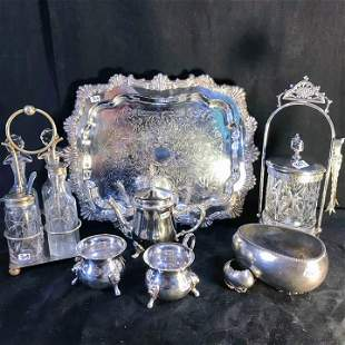Group of Victorian Fancy Silver Plate