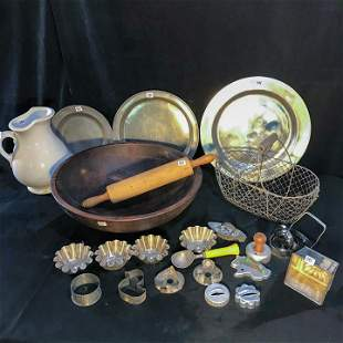 Lot of Primative Kitchen includes Cookie Cutters,