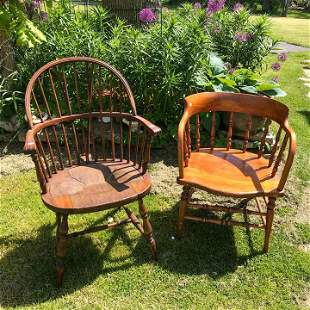 FIREHOUSE CHAIR AND ONE OTHER CHAIR