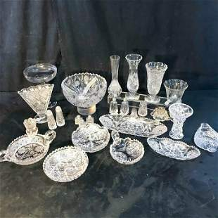 Group of Fancy Cut Crystal and More!
