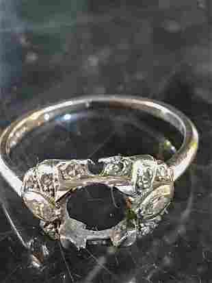 Platinum Iridium Diamond Ring