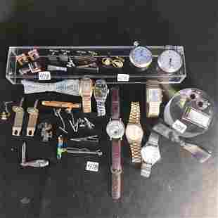 Group of Men's Watches and Jewelry-Poket watches,