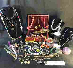 Huge Group of Quality Costume Jewelry to include Rock
