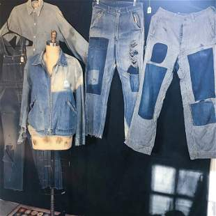 30's-50's Farm Denim Jeans, Overalls, Jacket and Shirt