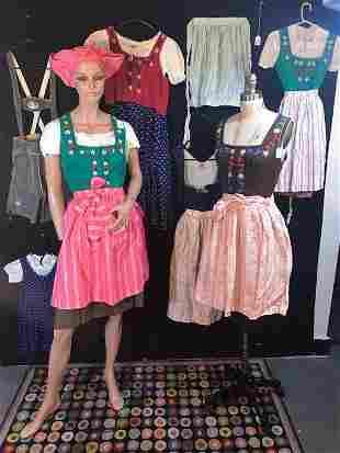 Group of German Folkloric Clothing, Dirndls, Lederhosen
