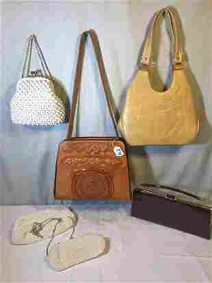 Group of Mid Century Leather Purses