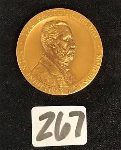 Tiffany 14K Gold Pasteur Medal 1937
