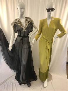 Two (2) Glamorous Evening Gowns C. 1940s