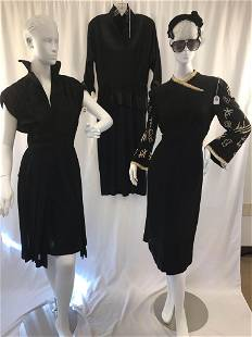 Three (3) Little Black Dresses Asian-Themed and More!