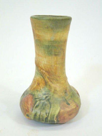"""6: Weller molded apple vase - 6 1/4"""" tall(est. value $1"""