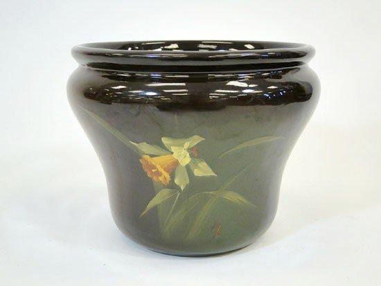 9: Signed Louwelsa Weller jardiniere depicting daffodil