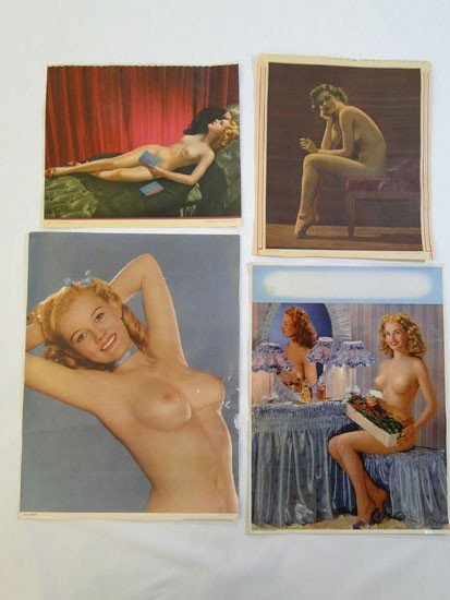 131: Group of 1930's/1940's pin up girl pictures in pro