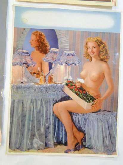 131: Group of 1930's/1940's pin up girl pictures in pro - 2