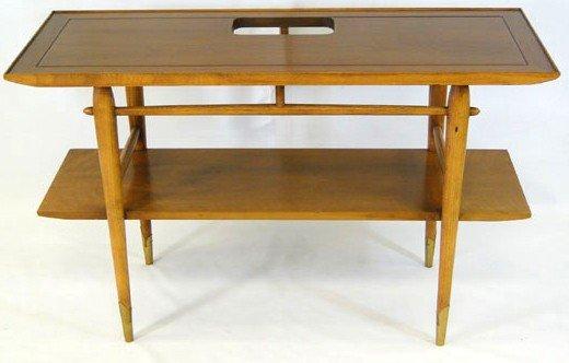 8: 20th Century Modern 2 tiered sofa or side walnut tab