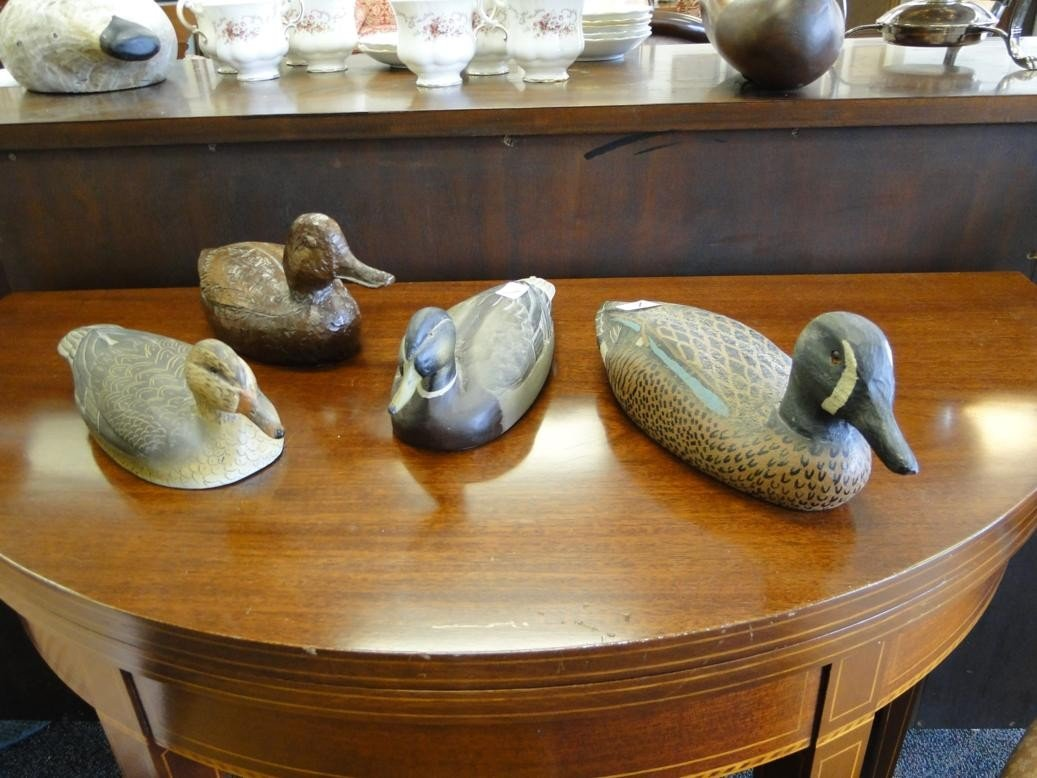 1: Group of 4 contemporary duck decoys