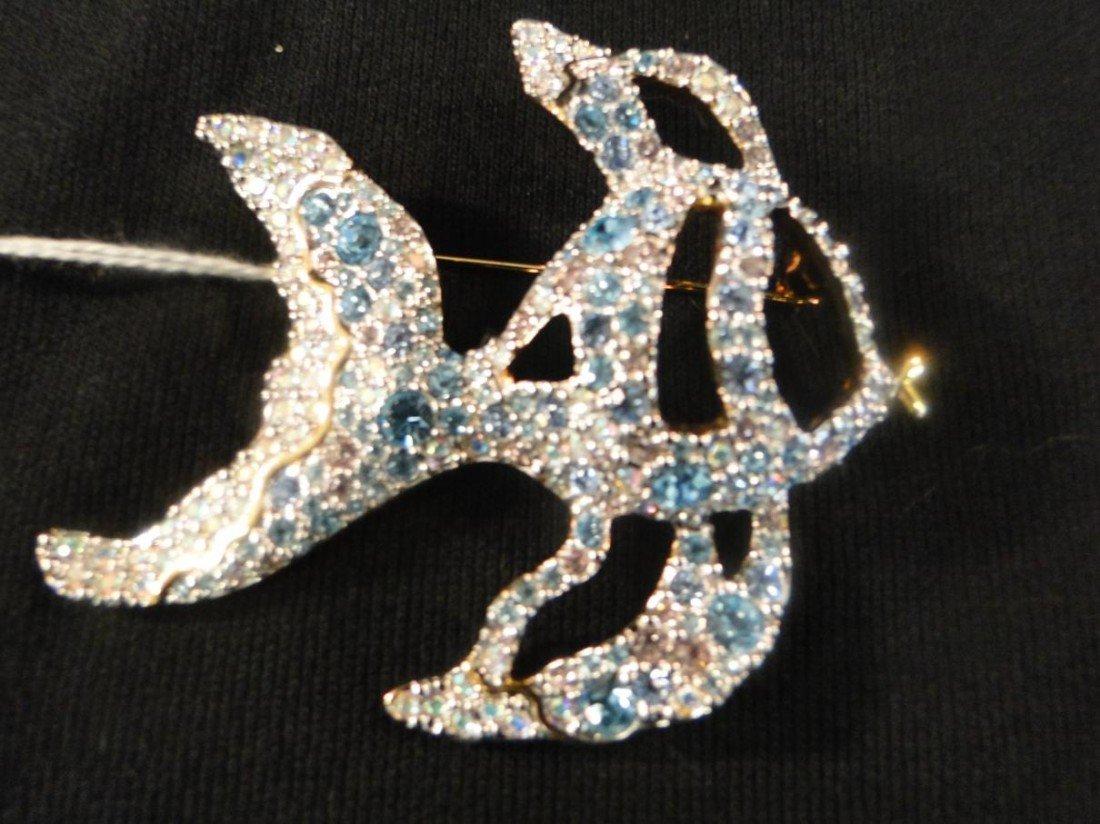 3: Swarovski large multi colored crystal angel fish
