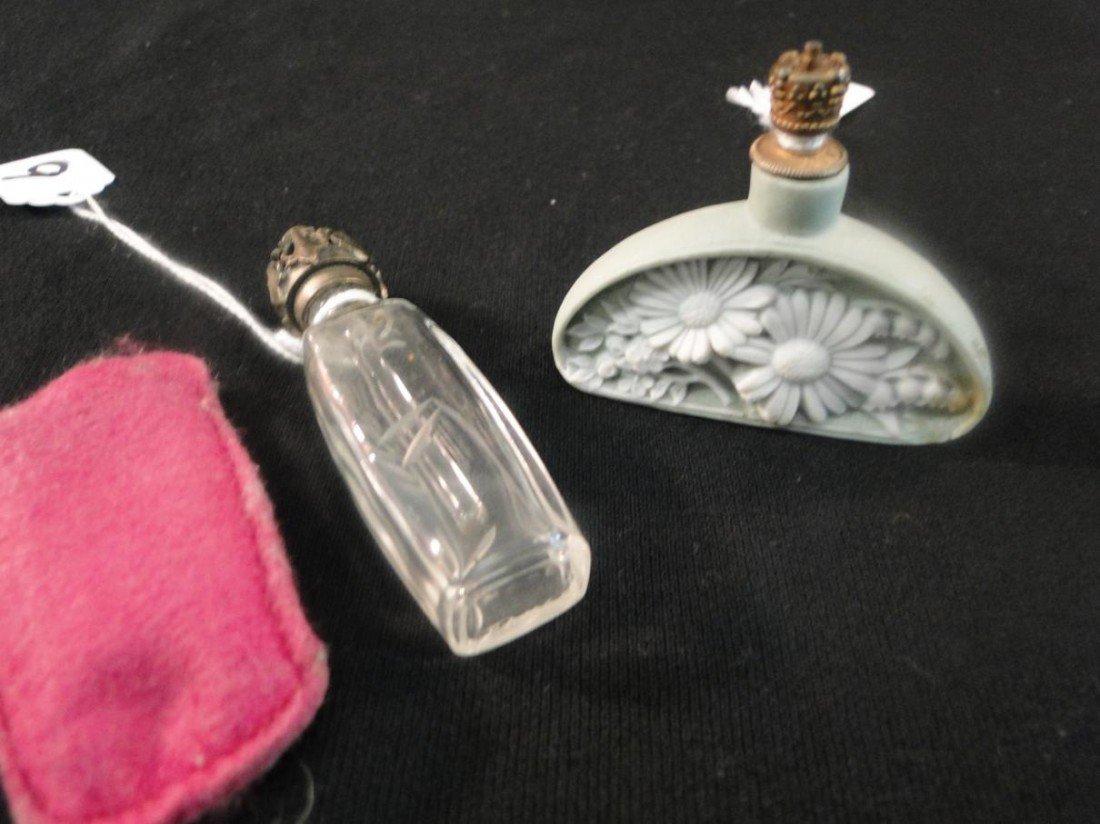 9: Basalt floral perfume bottle along with a floral cut