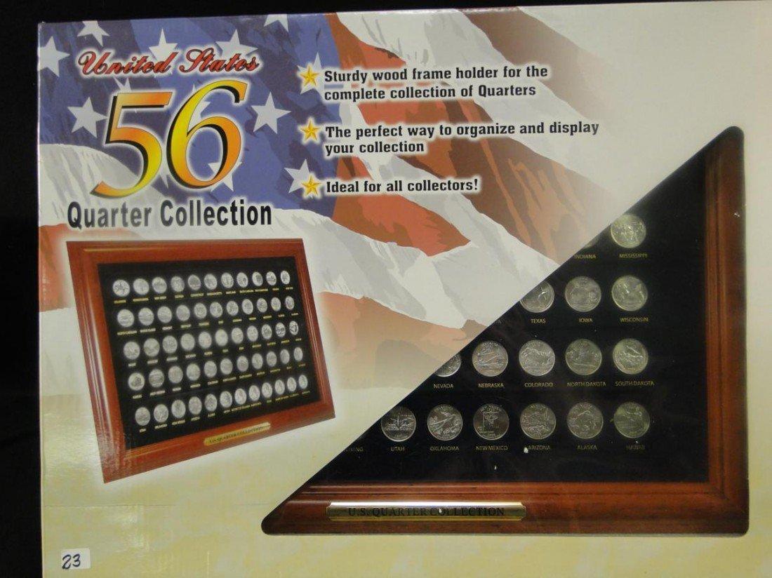 23: USA all 52 states framed quarter collection. Frame