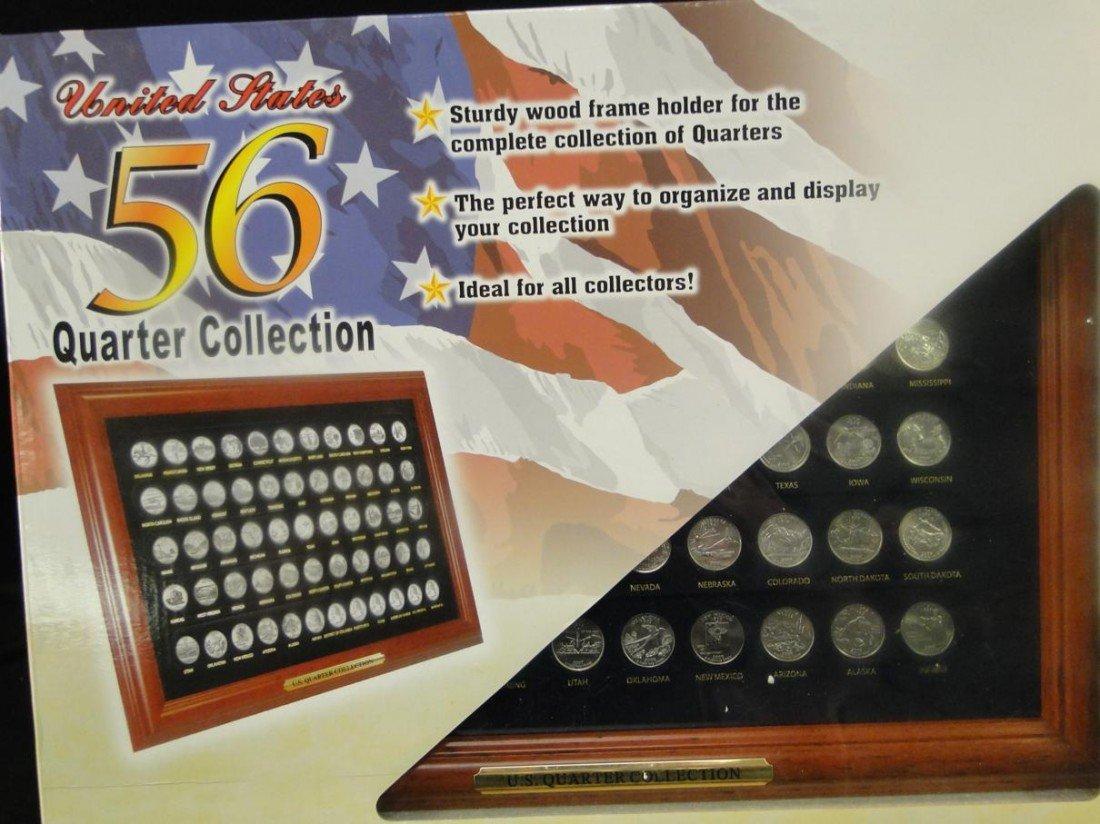 23: USA all 52 states framed quarter collection. Frame  - 2