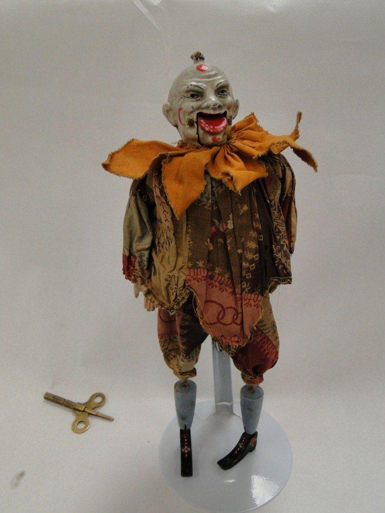 148: Early 1800's French clockwork keywind clown (autom