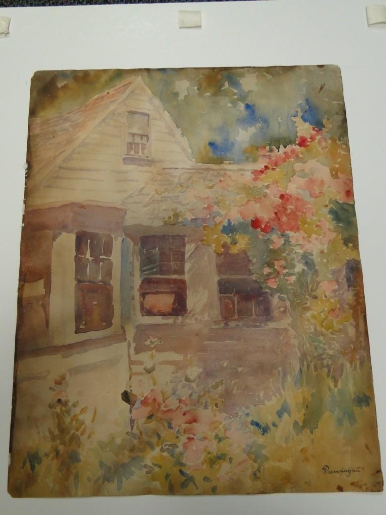 270: Prendergast Watercolor depicting a south Hampton l