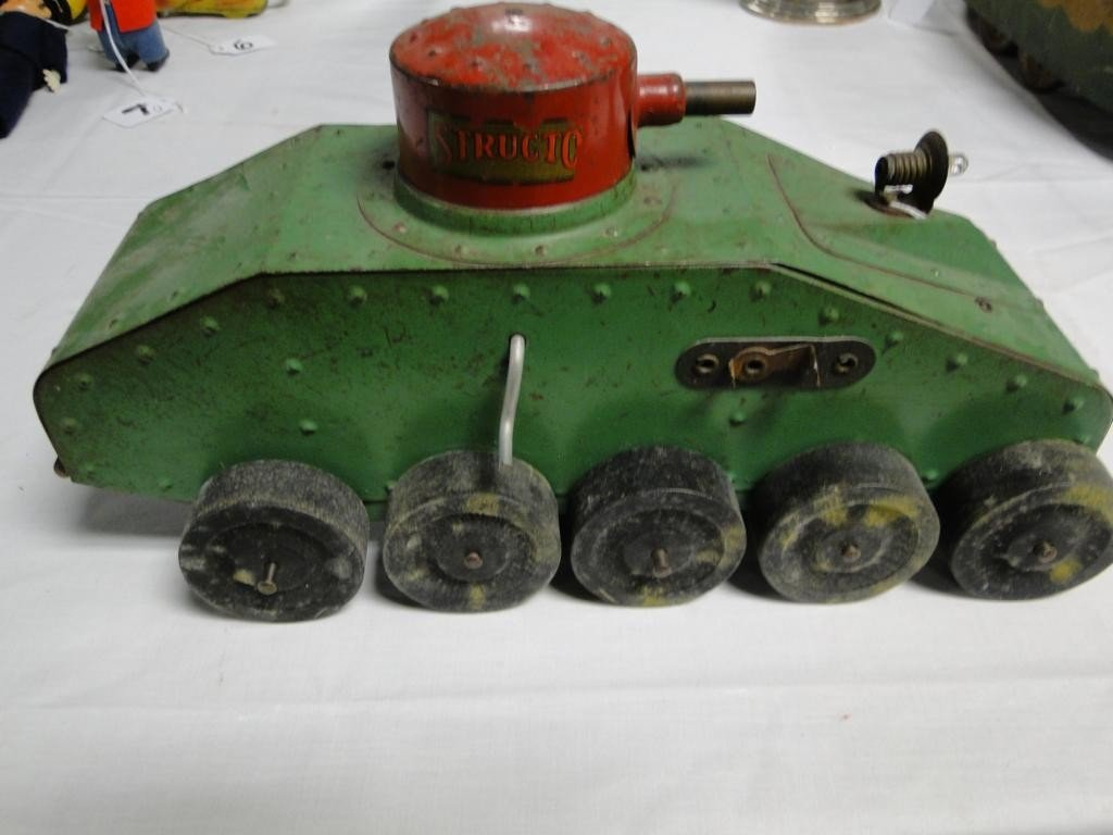 9: Turn of the century tank that takes a battery for th