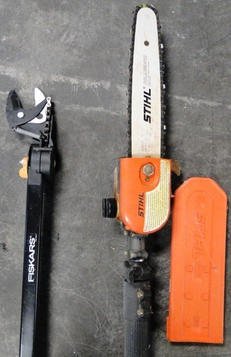 22: Stihl HT75 gas operated saw with attachments - PICK - 3