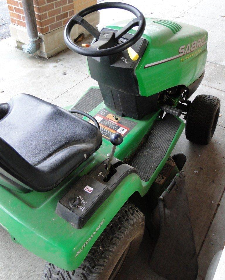 208: Sabre by John Deere riding lawn mower, 14.5 hp, hy - 3