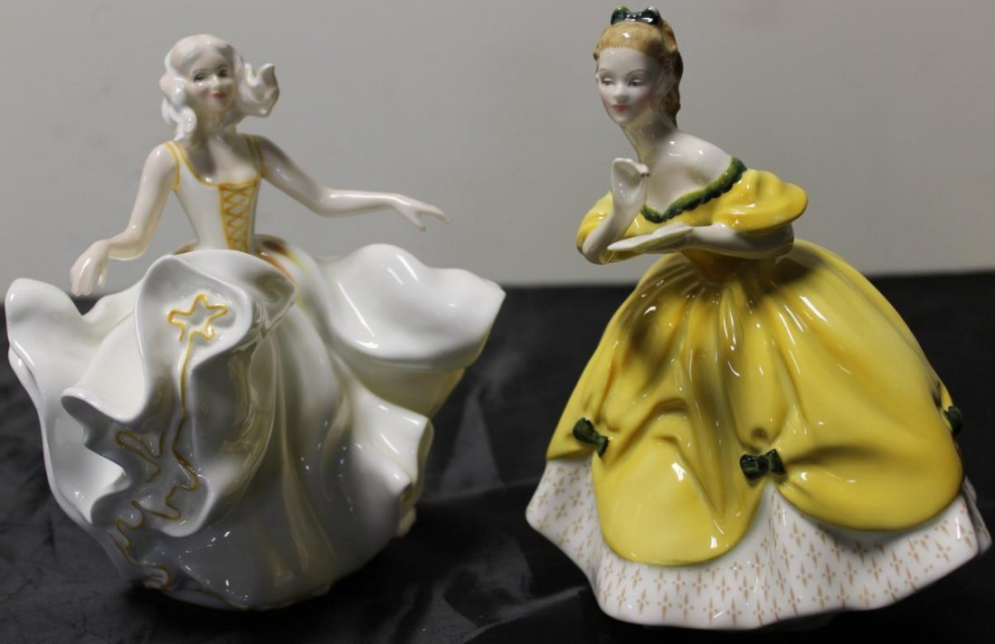 10: 2 Royal Doulton figurines, one entitled The Last Wa