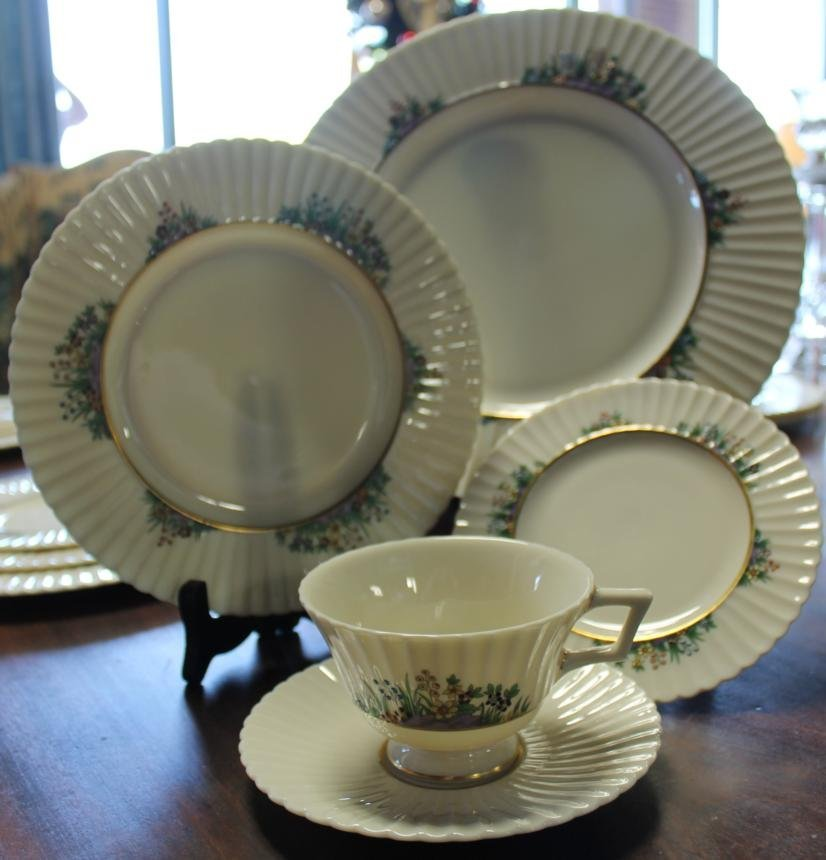 12: Set of Lenox china in the Rutledge pattern service