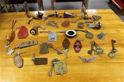 392: 28 hotel room keys from the late 50's early 60's t
