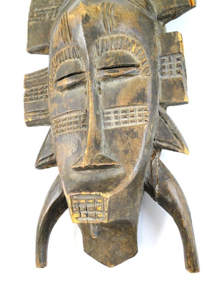 9: Kpelie Mask, Senufo tribe, from Ivory Coast, obtaine - 2