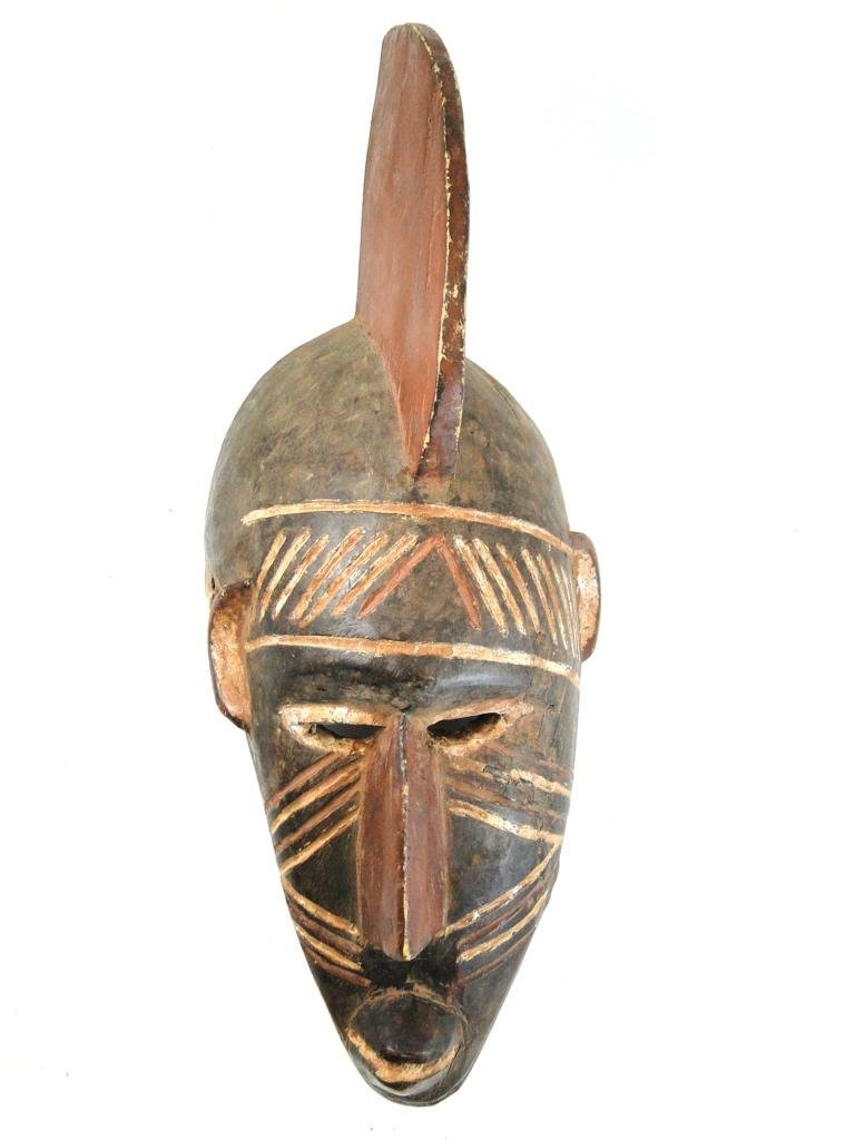 18: crest mask, Mossi tribe tribe, from eastern Mali, o