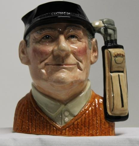 "12: Royal Doulton Toby mug ""The Golfer"". Modelled by Da"