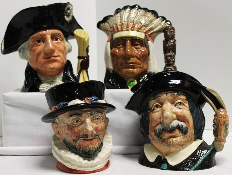 "17: Lot of four Royal Doulton toby mugs- 1.) ""Beefeater"