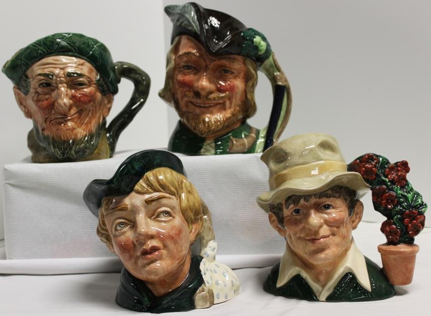"19: Lot of 4 Royal Doulton Toby mugs. 1.) ""Dick Whittin"