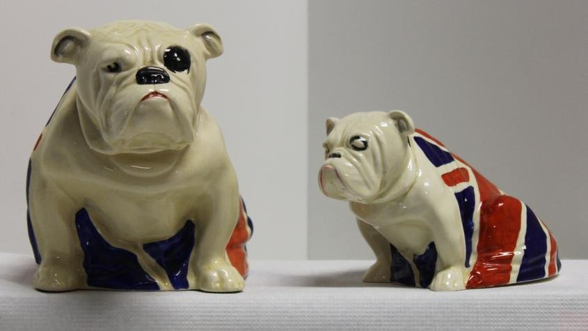 69: Lot of 2 Royal Doulton figurines. 1.) Large Union J