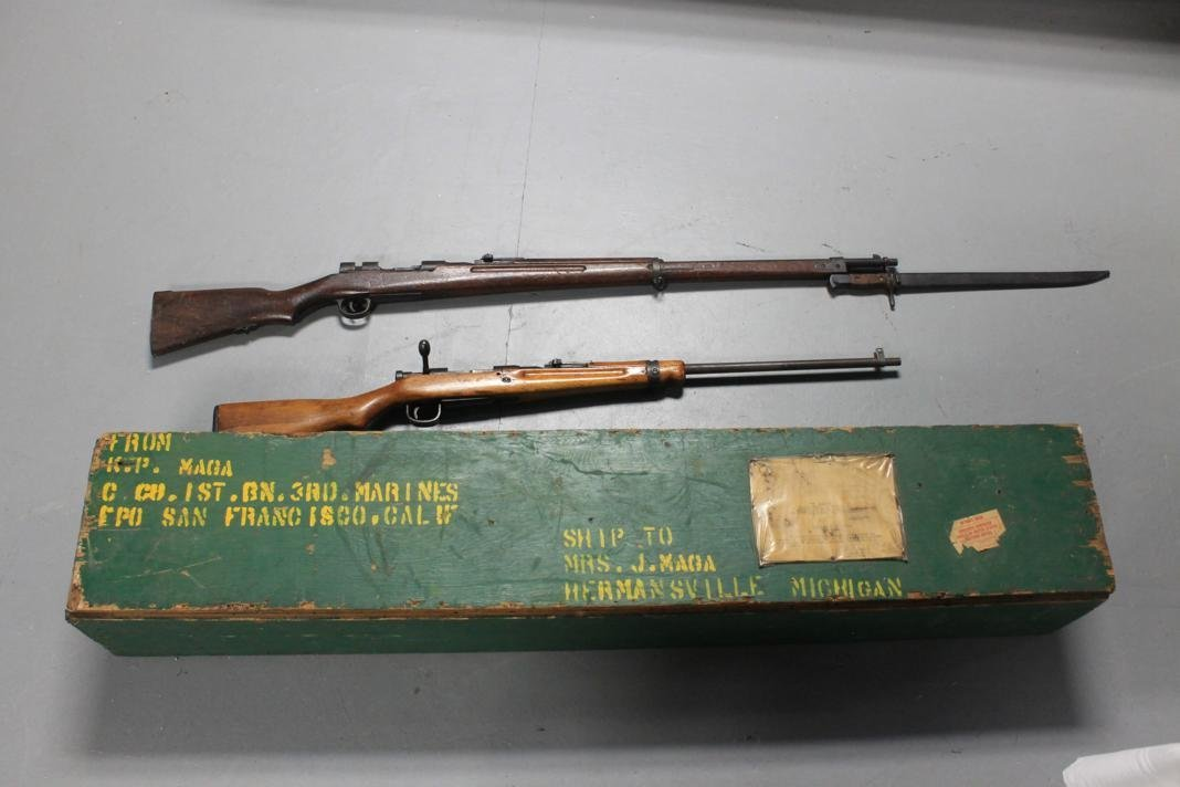 339: Pair of Japenese WWII rifles with original shippin