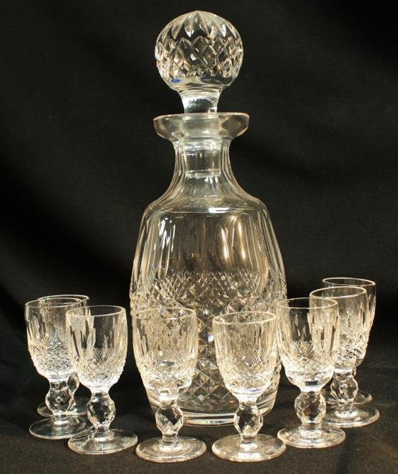 """4: Waterford crystal decanter """"Colleen"""" design, along w"""