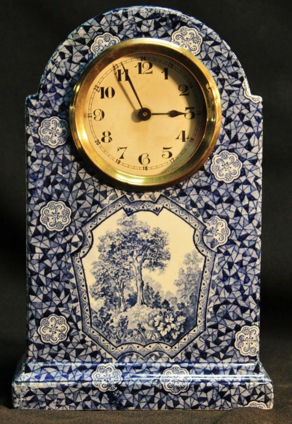 5: A Villeroy and Boch blue and white decorated forest