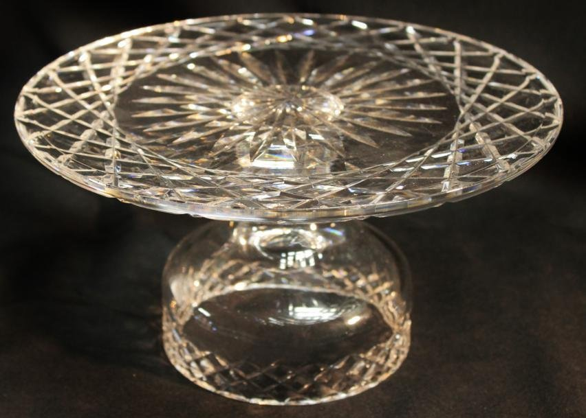 8: Waterford crystal cake stand