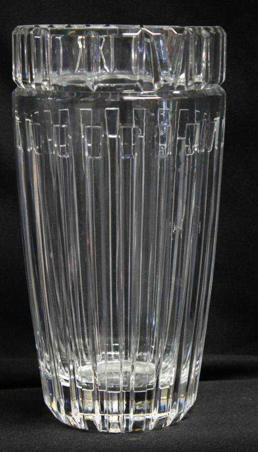 125 Tiffany Co Tall Crystal Vase In Atlas Pattern