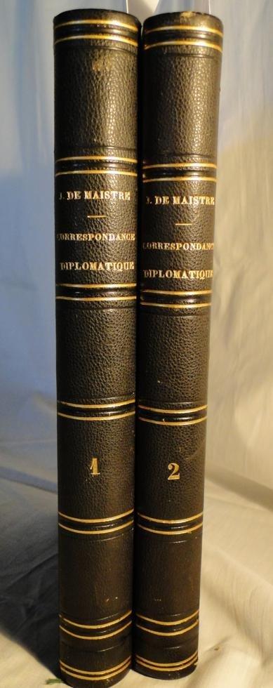 15: 2 volume set Correspondance Diplomatique de Joseph