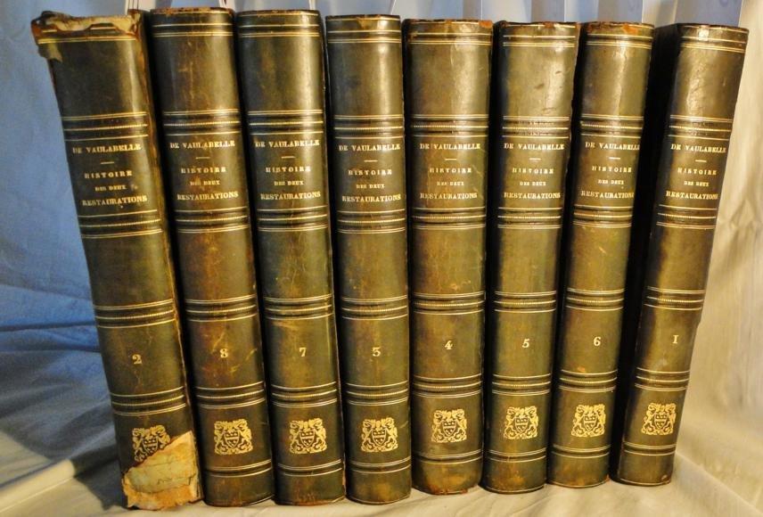 18: 8 volume set De Vau'abelle Historie Des Deux Restau