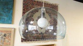Icon pendant clear blue Plexiglas hanging chandelier by
