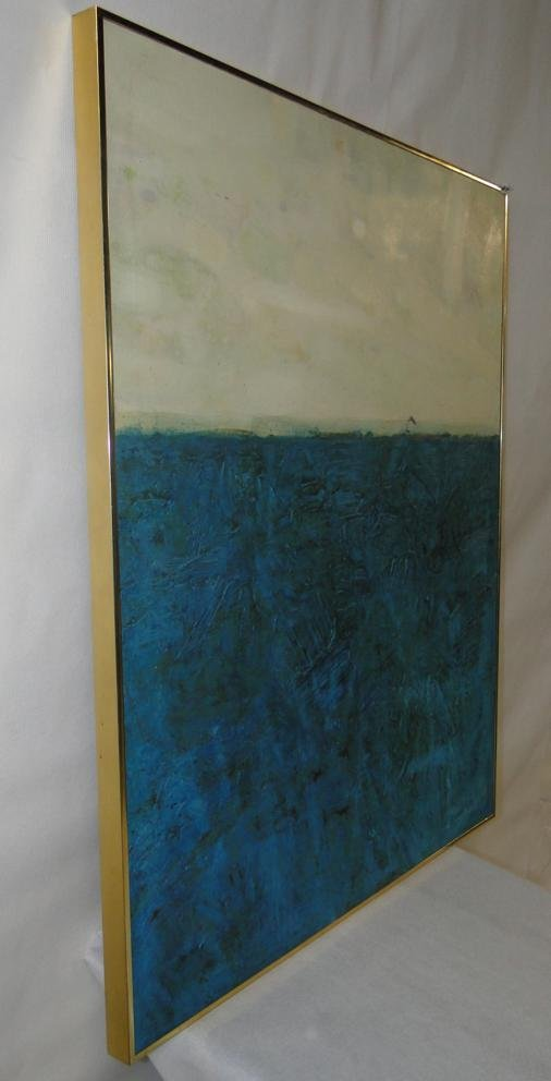 Original 1960's Marion Eaton contemporary oil depicting