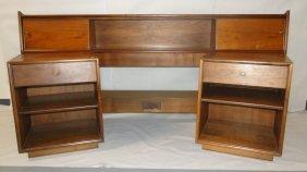 Solid walnut Drexel, 1960's headboard. Queen size. 2 ma