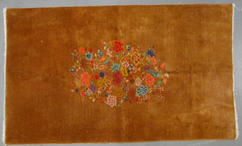 Hand tied Chinese oriental rug with multicolored floral